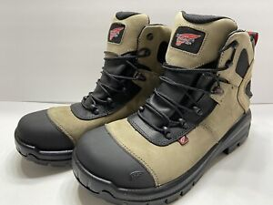 """NEW Red Wing CRV 6"""" Leather EH Safety Toe Mens Work Boots Beige Tan 4426 SZ 9.5"""