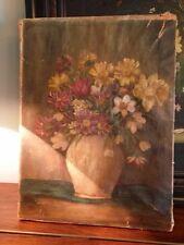 Peinture à l'huile signée, nature morte, 40x30 cm.