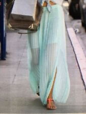 Victoria's Secret Long Skirt Maxi Spring Clothes Pleated Mint Green 12 Large L