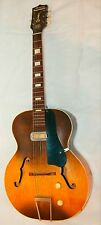 Vintage Harmony Hollywood Hollowbody Electric Guitar Sunburst H39 Nice Action!!