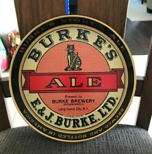 Vintage Burke'S Ale Metal Cat Beer Tray Burke Brewing Co Long Island City Ny