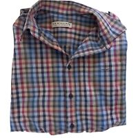 RM Williams Size S Regular Fit Long Sleeve Multicoloured Plaid Check Shirt Mens
