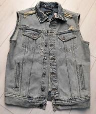 Tigha Herren Jeans Weste Jacke Nevin Capsule Blue Size M