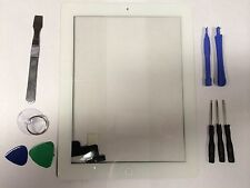 Front Panel Touch Screen Glass Digitizer Home Button Assembly for iPad 2 White