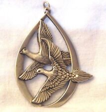 Vintage Wallace Sterling Silver Ornament/Pendant Doves 1972 Peace on Earth 27.5g