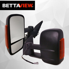 BettaView Extendable Towing Mirrors Mazda BT-50 2012-On Black With Indicators