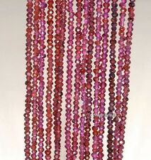 """2MM BRIZILLIAN RED GARNET GEMSTONE FACETED ROUND 2MM LOOSE BEADS 16"""""""