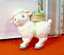 Merry Miniatures Easter Lamb with Basket of Easter Eggs