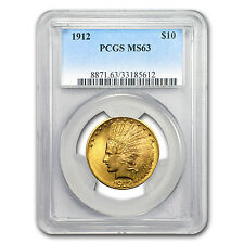 1912 $10 Indian Gold Eagle MS-63 PCGS - SKU #19466