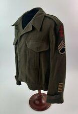 Wwii Us Army Australian Made Ike Jacket Staff Sergeant 32nd Infantry Named Ww2