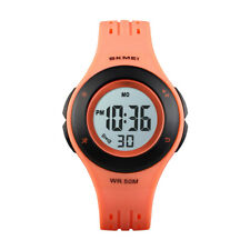 skmei watch trendy digital watches led waterproof kids boy girl alarm wristwatch