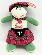"Nessie Loch Ness Monster Plush Stuffed Animal Innes & Cromb Scotland Green 11"""