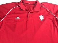 Indiana Hoosiers Polo Shirt Fits Mens 2XL Student Alumni Adidas Climalite Golf