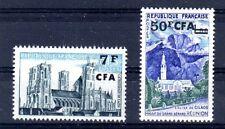 CFA REUNION Timbre N° 347 + 352A ** LUXE cote 4,60euro