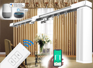 """Double Electric Curtain Track 4M (157"""") Remote Control Smart Curtain Tracks"""