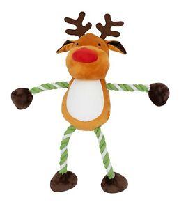 GIANT GoodBoy Christmas Hug Tug Reindeer Rope arms legs 85cm dog toy gift large