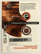 2002-03 SPx 2003-04 Rookie Redemption Card #SPx-R14