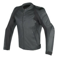 Dainese Fighter Leather Jacket Black Sport Motorcycle Jacket NEW