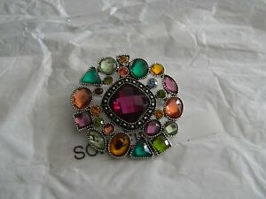 Premier Designs HIDDEN GEMS silver crystal pin/enhancer RV $31 free ship nwt