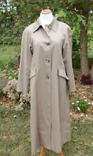 Vintage Classic 80's Style Stephanie Andrews Fully Lined Khaki Trench Coat Wms 8