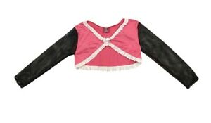 Monster High Draculaura Pink Top Shirt Jacket Dress Up Black Skull Hanger