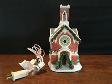 1998 Seasonal Specialties Christmas Valley Collectible Lighted Village Church