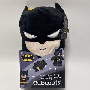 HTF CubCoats Kids' Size 8 Batman Black 2-In-1 Magical Transforming Hoodie