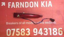 KIA SEDONA 2006-2014 DRIVERS FRONT DOOR HANDLE IN RED