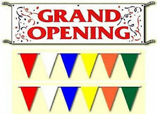 Grand Opening Banner Pennants Sign Package. Same Day Ship.