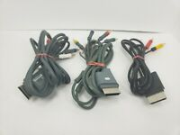 Lot Of (3) Xbox 360 Component HD And Composite AV Cable OEM. Tested!