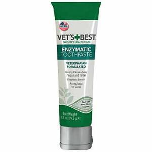 Vet's Best Enzymatic Dog Toothpaste 3.5oz Teeth Cleaning & Fresh Breath Denta...