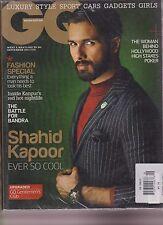 GQ Revista India Septiembre 2014 , Shahid Kapoor