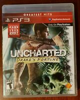 Uncharted: Drake's Fortune (PS3 PlayStation 3, 2009) Not For Resale Complete