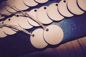 laser cut wooden round shape tags xmas Embellishments mdf Craft 40 , 50 , 60 mm