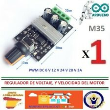 Regulador Voltaje PWM DC 6V, 12V, 24V, 28V, 3A  Controlador Velocidad Motor  M35