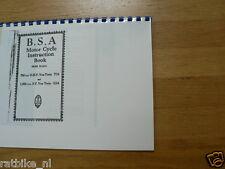 B0119 BSA---INSTRUCTION BOOK---MODELS VeeTWIN(750OHV-Y13 + 1000SV-G14)