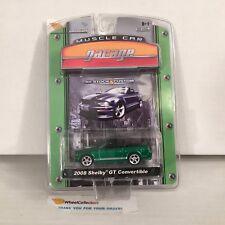 #5 GREEN MACHINE * 2008 Shelby GT Convertible * Greenlight Muscle Garage * NB20