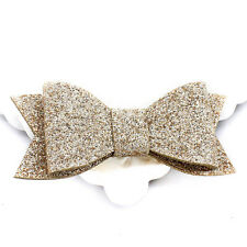 Baby Girl Hairbow Hairpins Fashion Glitter Leather Bow Hair Clips Hair EFUS