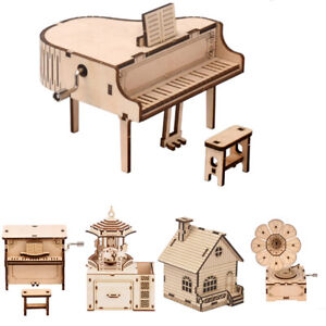 Wooden Puzzle DIY Model Kits Assembly Mechanical Toy Kids Teen Games 3D Develop