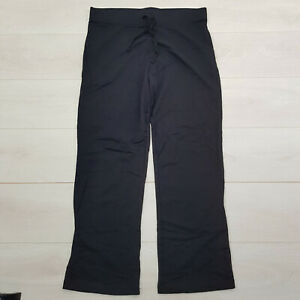 GEORGE Cotton Joggers Trousers Size 16 L30 Black Elastic Waist Drawstring Casual