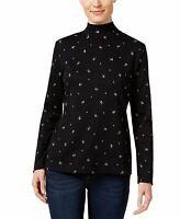 Karen Scott 3//4 Sleeve Merlot Collar Polo/_/_/_/_/_/_/_/_/_/_/_ R16D3