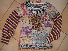 (C532) Nolita Pocket Girls Materialmix Langarm Shirt + Logo Glitzer Druck gr.104