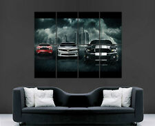 CAMARO CHALLENGER MUSTANG SUPERCARS CLASSICS HUGE LARGE WALL ART POSTER PICTURE