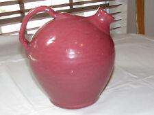 "Clay Pot Pitcher Water Tea Pot Jug light red 8 1/2"" Tall Vintage Very Rare ~"