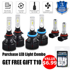 For Jeep Compass 2014-2018 6x H11 9005 LED Headlight Fog Light Combo White Bulbs
