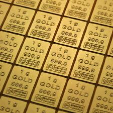 1g GOLD 999,9 + ZERTIFIKAT ► 1 GRAMM FEINGOLDBARREN