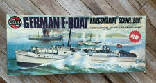 VINTAGE AIRFIX E BOAT  or S BOAT MODEL KIT 1:72 SCALE COMPLETE & PARTS SEALED
