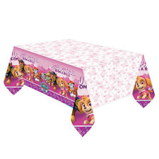 Paw Patrol Pink Girls Tablecover Happy Birthday Party Puppy Pet Party Tablecloth