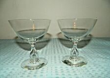 Swedish Crystal Footed Goblet Pair Sherbets/Tear Drop Stems