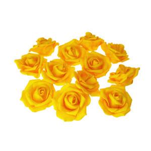 Foam Roses Flower Head Embellishment, 12-Piece
